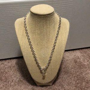 Silver rolo chain- NEW